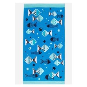 VERA BRADLEY Go Fish Blue Beach Pool Towel NWT